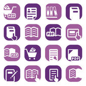 Color books icons set — Stock Vector