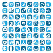 Big color medical icons — Stock Vector