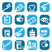 Color health icons — Stock Vector