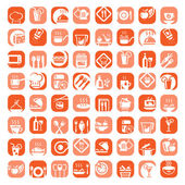 Big color kitchen icons set — Stock Vector