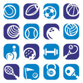 Color sports icons set — Stock Vector