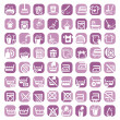 Big color cleaning icons - Imagen vectorial