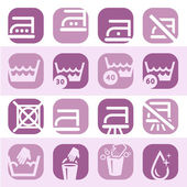 Color washing icons set — Stock Vector