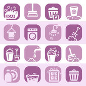 Color cleaning icons set — Stock Vector