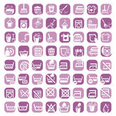 Big color cleaning icons — Stock Vector