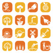 Color gardening icon set - Foto de Stock