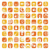Big color farm icon set — Stock Photo