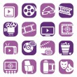 Color cinema icons set.jpg — Stock Vector