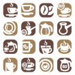 Color coffee icin set — Stock Vector