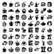 Big coffee and tea icons set — Stock Vector #24043711