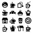Stock Vector: Coffee and teicons set