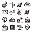 Travel vector icons — Stock Vector
