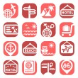 Color travel vector icons — Stock Vector