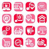 Color shopping vector icons — Stock Vector