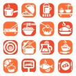 Color food vector icon set — Stock Vector