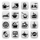 Food vector icon set — Stock Vector