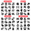 Big web vector icon set — Stock Vector