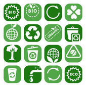 Color environmental icon set — Stock Vector