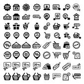 Big shopping icons set — Stock Vector