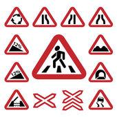 Renk trafik otomatik işaretleri seti — Stok Vektör