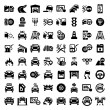 Stock Vector: Big auto icons set