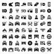 Big auto icons set — Stock Vector