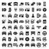 Big auto icons set — Stock Vector