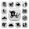 Stock Vector: Garbage icons set