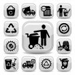 Garbage vector icons — Stock Vector