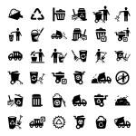 Big garbage icons set — Stock Vector