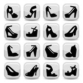 Fashion shoes icons — Stock Vector