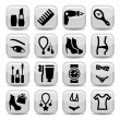 Fashion vector icons — Stock Vector