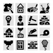 Construction icons set — Stock vektor