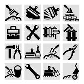 Construction and repair icons set — Stock Vector