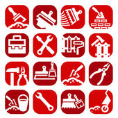 Color construction and repair icons set — Stock Vector