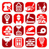 Color construction icons set — Stock Vector