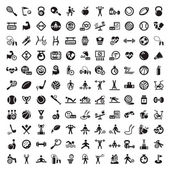 Big fitness and diet icons set — Wektor stockowy