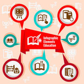 Infographic koncepce vzdělávání — Stock vektor