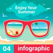 Infographic concept summer — Stock Vector