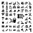 Stock Vector: Big construction and repair icons set