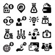 Finance and money icons set — Stock Vector