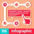 Infographic concept touchpad — Stock Vector