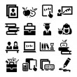education icons — Stock Vector