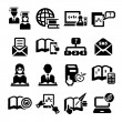 Education vector icons — Stock Vector