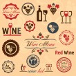 Stock Vector: Wine labels set