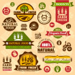 Stock Vector: Farm logo labels and designs