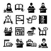 Utbildning vektor ikoner — Stockvektor