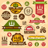 Farm logo labels and designs — Stock Vector