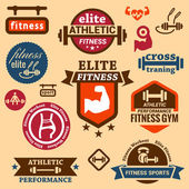 Fitness labels — Stock Vector