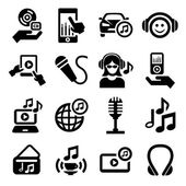 Music icons set — Stock Vector